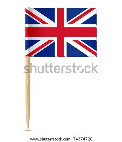 united kingdom flag toothpick - stock vector