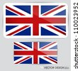 United Kingdom Flag. Vector illustration. - stock photo