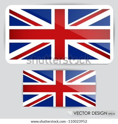 United Kingdom Flag. Vector illustration. - stock vector