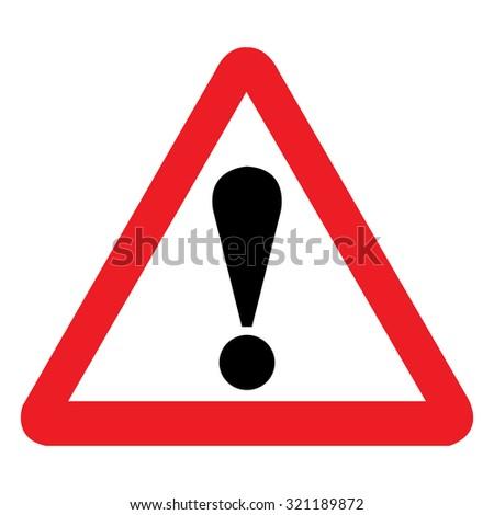 United Kingdom General Warning Sign - stock vector