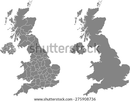 England Map Stock Images RoyaltyFree Images Vectors Shutterstock - United kingdom map vector