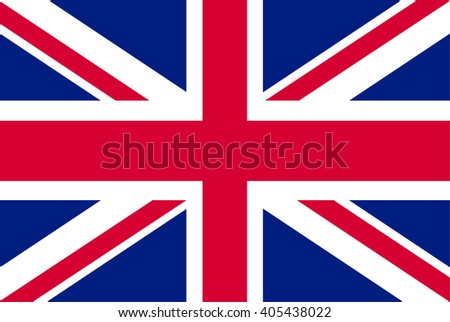 United Kingdom or England , UK Flag. Vector illustration flag , Symbolic that represent to United Kingdom,UK. For several concept and occasional (National Day,Sport,Currency,Travel,etc.) - stock vector