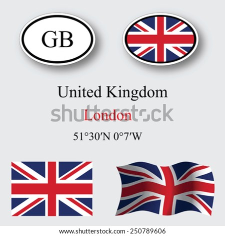 united kingdom set against gray background, abstract vector art illustration, image contains transparency - stock vector