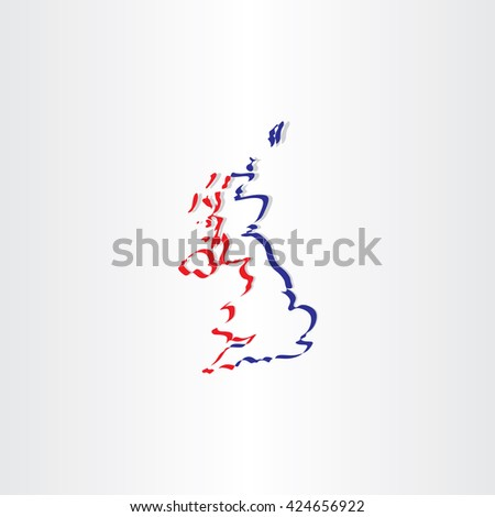 united kingdom stylized icon vector map sign