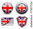 United Kingdom; UK flag icons theme. - stock photo