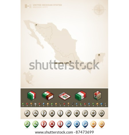 United Mexican State - stock vector