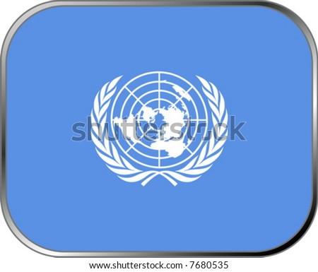 United Nations flag icon with official coloring - stock vector