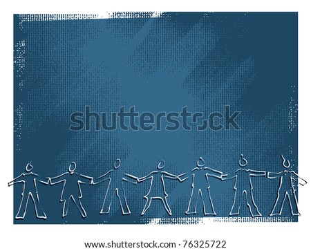 United people concept - stock vector