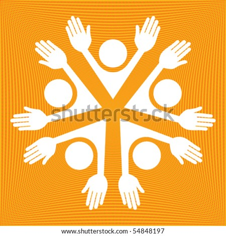 United people vector. - stock vector