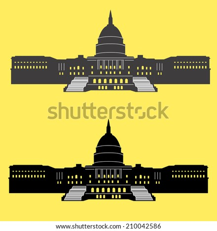 United States Capitol - stock vector