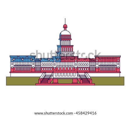 united states capitol isolated icon design, vector illustration  graphic  - stock vector