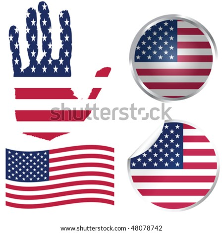United States collection - stock vector