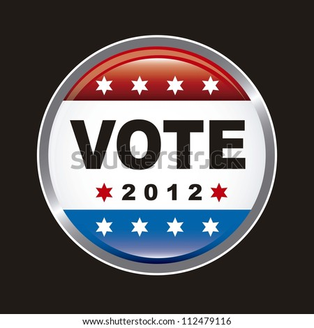 united states election vote over black background. vector