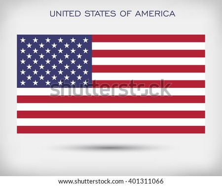 United States flag.Flag of the USA.Vector American flag. - stock vector