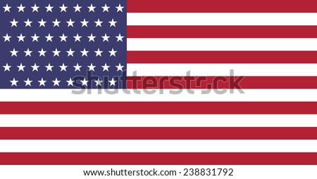 United States flag. Original and high quality - stock vector