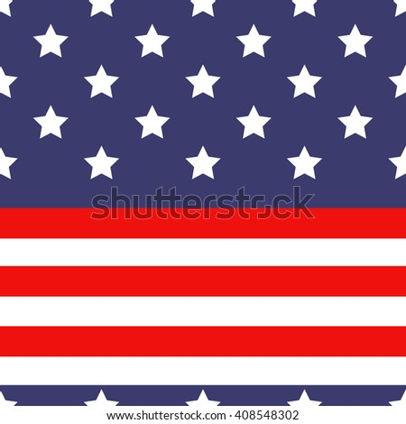 united states flag pattern / seamless pattern. - stock vector