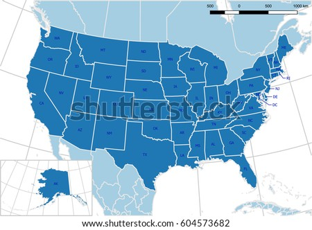 Abbreviation Stock Images RoyaltyFree Images Vectors - United states map with state names and abbreviations