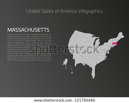 United States America Aka Usa Map Stock Vector 519871918