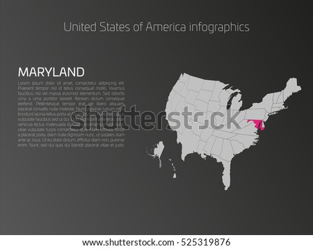 Solid Black Silhouette Map United States Stock Vector - Map of us that can be highlighted