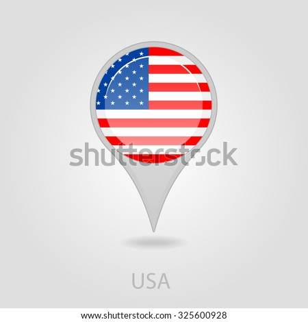 United states america flag pin map stock vector 325600928 united states of america flag pin map icon eps 10 sciox Choice Image