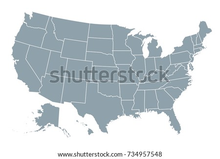 United States America Map Stock Vector Shutterstock - Map of united states of america