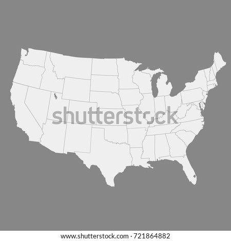 Map Of Usa Vector Graphic Blue Vector Map Of Usa Georgia Map Usa - Us vector map