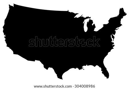 Usa Map Stock Images RoyaltyFree Images Vectors Shutterstock - Black and white usa map