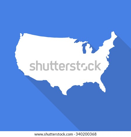 United States Americausa White Mapborder Flat Stock Vector - Blank us map no borders