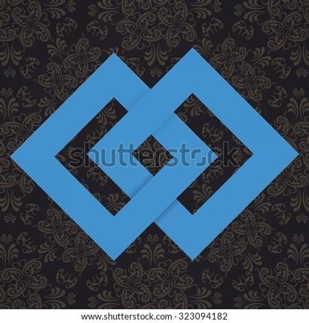 unity knot design - stock vector
