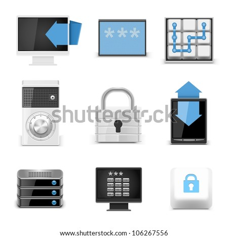 universal defense vector icons - stock vector