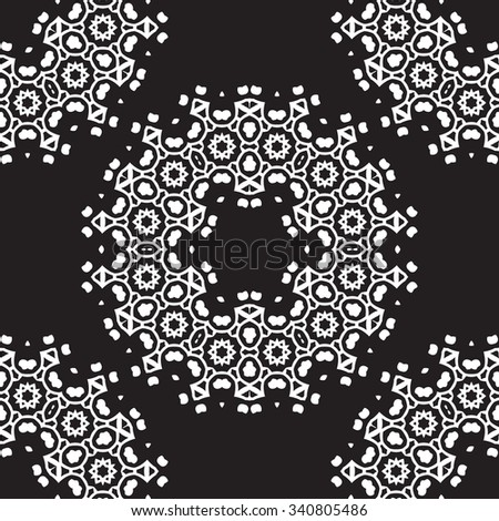 Universal different vector seamless vintage patterns (tiling). Endless texture can be used for wallpaper, pattern fills, web page background,surface textures. Retro monochrome geometric ornament.