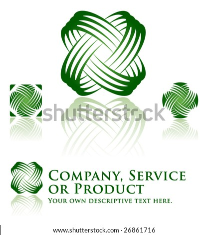 Universal Dynamic Icon Set for Ecology, Recycling, Company, Service or Product. - stock vector