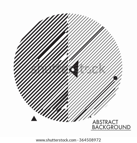 Universal geometry background in minimal, primitive style. Simple shapes for your design, typographic cover, advertisement, printing, poster and web design - stock vector
