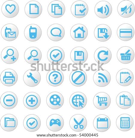 Universal icons - stock vector