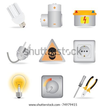 Universal icons. Vector illustration - stock vector