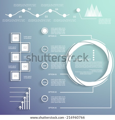 Universal infographic elements - stock vector
