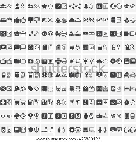 Universal line icons set, outline and solid vector symbol collection, linear pictogram pack isolated on white, pixel perfect logo illustration