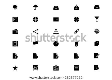 Universal Vector Icons 4 - stock vector