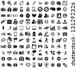 universal web icons set - stock vector
