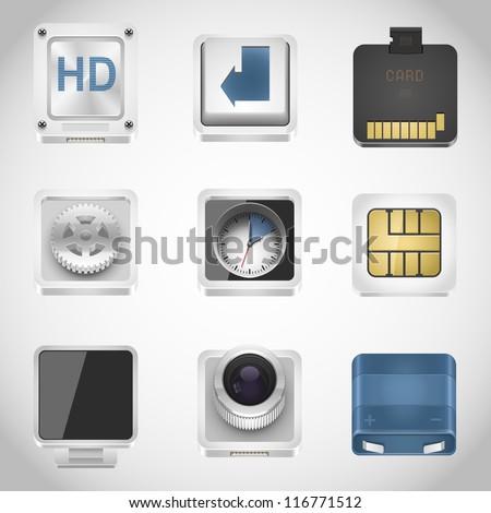 universal web vector icons - stock vector