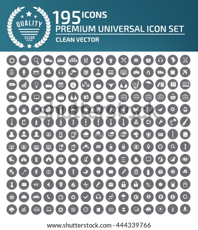Universal website icon set,vector