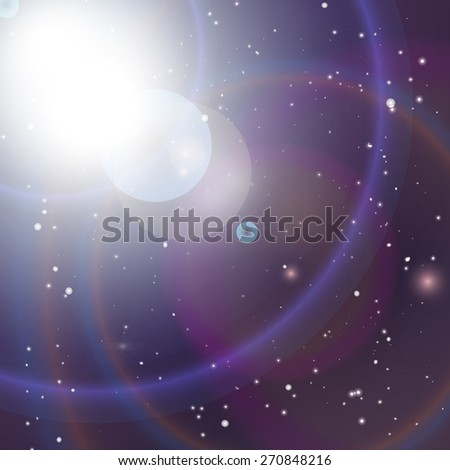 Universe background. Vector illustration for space promotional projects.  - stock vector