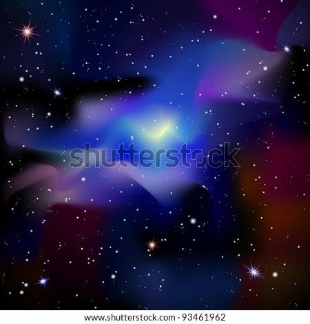 Universe with bright stars. Space background vector eps10 - stock vector