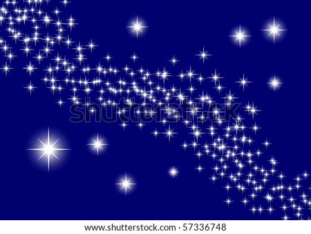 Universe with stars - stock vector