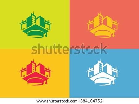 University college city logo vector  - stock vector