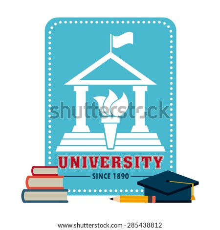 university concept design, vector illustration eps10 graphic