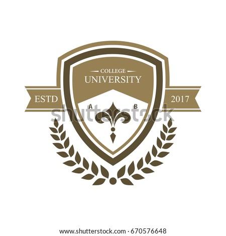 university education logo design stock vector 670576648