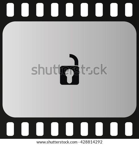 Unlock icon. Retro style unlock illustration. - stock vector