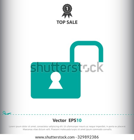 Unlock sign icon, vector illustration. Unlock symbol. Flat icon. Flat design style for web and mobile.