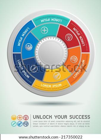 Unlock Your Success Vector Illustration - stock vector